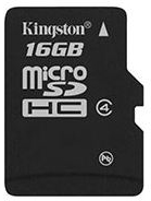 Карта памяти 16 Гб Micro SDHC Kingston Class 4 [SDC4/16GB]