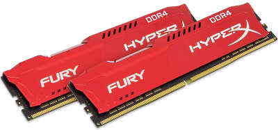 Набор памяти DDR4 DIMM 2x8Gb DDR3466 Kingston HyperX Fury Red (HX434C19FR2K2/16)