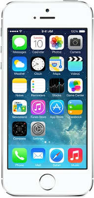 Смартфон Apple iPhone 5S [ME433RU/A] 16 GB silver