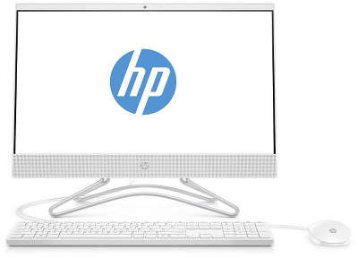 "Моноблок HP All-in-One 200 G3 21.5"" FHD Silver J5005/4/128 SSD/WF/BT/Cam/Kb+Mouse/DOS,белый (4YW19ES)"