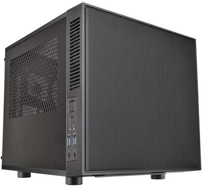 Корпус Thermaltake Case Suppressor F1, window, Black, w/o PSU, mITX