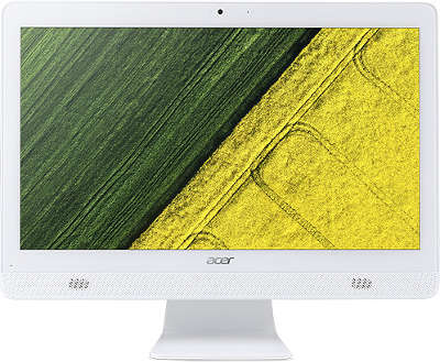 "Моноблок Acer Aspire C20-720 19.5"" J3710/4/500/HDG405/DVDRW/CR/WiFi/BT/CAM/DOS/Kb+Mouse, белый"
