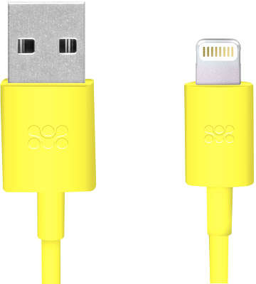 Кабель Promate linkMate-LT USB to Lightning, 1.2 м, жёлтый