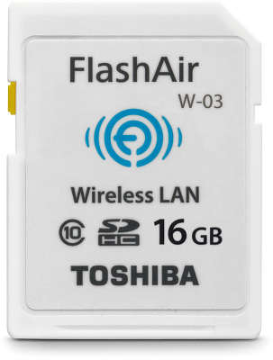 Карта памяти 16 Гб SDHC Toshiba FlashAir with Wi-Fi Class 10 [SD-F16AIR03(8]