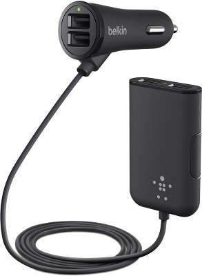 Автомобильное ЗУ Belkin 4-Port Passenger Car Charger, чёрное [F8M935bt06-BLK]