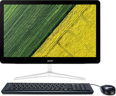 "Моноблок Acer Aspire Z24-880 23.8"" Full HD i5-7400T/6/1000/GF940MX 2G/Multi/WF/BT/CAM/W10/Kb+Mouse, серебристы"