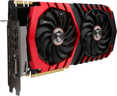 Видеокарта PCI-E NVIDIA GeForce GTX1080 GAMING 8096MB DDR5X MSI  [GTX1080GAMINGX8G]