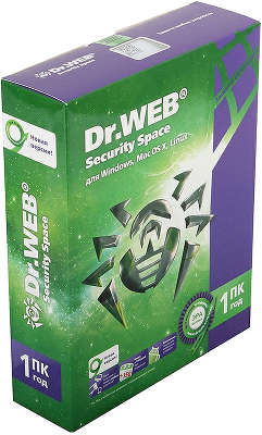 Антивирус Dr.Web Security Space, Box, 1ПК, 1год [BHW-B-12M-1-A3]
