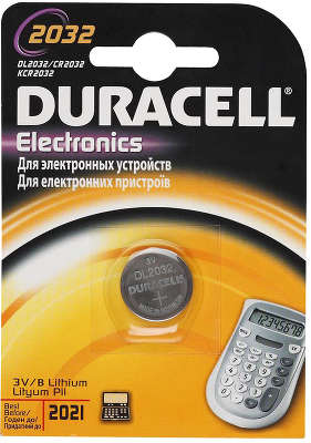 Элемент питания CR2032\DL2032 Duracell для материнских плат