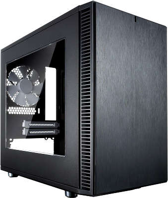 Корпус Fractal Design Define Nano S Window черный без БП ITX 4x120mm 3x140mm 2xUSB3.0