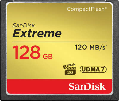 Карта памяти 128 Гб Compact Flash SanDisk Extreme 120MB/s [SDCFXSB-128G-G46]