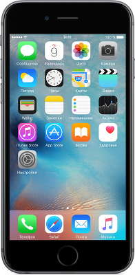 Смартфон Apple iPhone 6S [MN0W2RU/A] 32 GB space gray