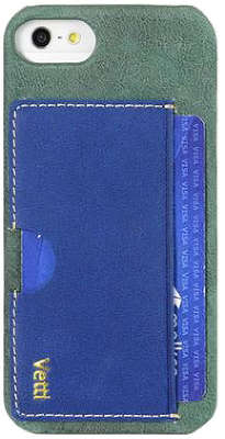 Чехол для iPhone 5/5S/SE Vetti Craft Prestige Card Holder, Vintage Blue/Shine Blue [IPO5LESCHLBVT1]