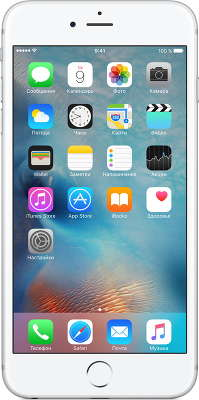 Смартфон Apple iPhone 6S Plus [MKU22RU/A] 16 GB silver