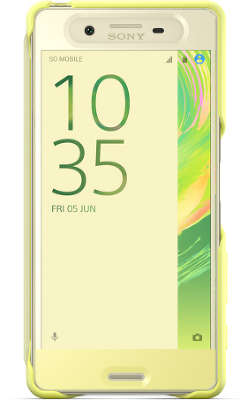 Чехол Sony Touch Cover SCR50 для Xperia X, Golden Lime