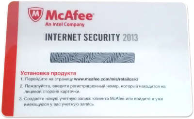 Антивирус McAfee Internet Security, 1год, 1ПК, скрэтч-карта