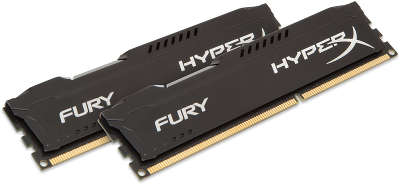Набор памяти DDR-III DIMM 2*8192Mb DDR1600 Kingston HyperX Fury Black [HX316C10FBK2/<wbr>16]