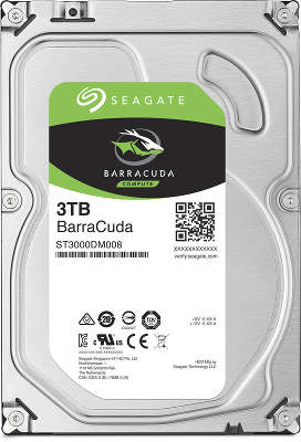 Жёсткий диск SATA-3 3TB [ST3000DM008] Seagate Barracuda Guardian, 5900rpm, 64MB Cache