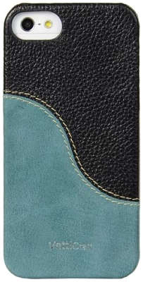 Чехол для iPhone 5/5S/SE Vetti Craft Prestige LeatherSnap, Black/Vintage Lake Blue [IPO5LESHYBKLC3]
