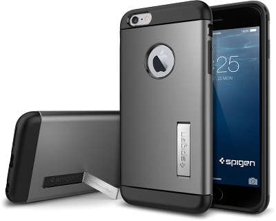Чехол Spigen SGP Slim Armor для iPhone 6 Plus/6S Plus, Gun Metal [SGP10905]
