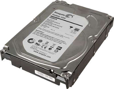 Жёсткий диск SATA-3 4TB [ST4000DM000] Seagate Barracuda, 5900rpm, 64MB Cache, HDD.15