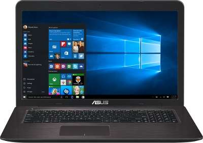 Ноутбук Asus X756UA-TY013T i3-6100U/<wbr>6Gb/<wbr>1Tb/<wbr>Multi/<wbr>HD Graphics 520/<wbr>17.3&quot;/<wbr>W10/<wbr>WiFi/<wbr>BT/<wbr>Cam
