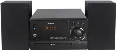 Микросистема Rolsen RMD-200 черный 30Вт/CD/DVD/FM/USB/SD/MMC/MS