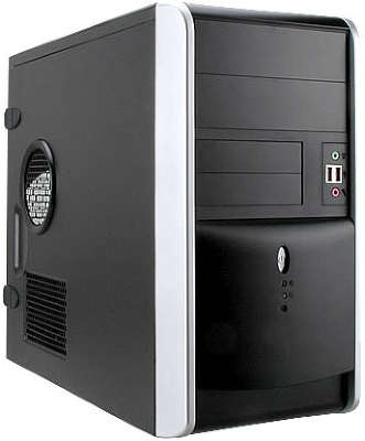 Корпус microATX 2.03 IN-WIN EMR-007 Black-Silver 500W USB