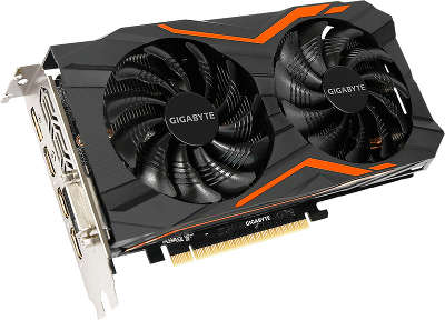 Видеокарта PCI-E NVIDIA GeForce GTX 1050TI 4096MB GDDR5 Gigabyte [GV-N105TG1 GAMING-4GD]