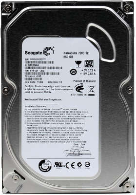 Жесткий диск SATA-3 250GB [ST3250312AS] Seagate Barracuda 7200.12, 7200rpm, 8MB Cache