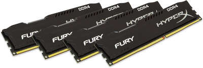 Набор памяти DDR4 DIMM 4*8Gb DDR2933 Kingston HyperX Fury Black (HX429C17FB2K4/32)