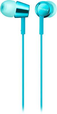 Гарнитура Sony MDR-EX155AP, голубая