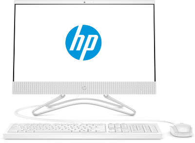 "Моноблок HP All-in-One 22-c1003ur 21.5"" FHD R 3 3200U/4/1000/128 SSD/WF/BT/Cam/Kb+Mouse/W10,белый (6PD33EA)"