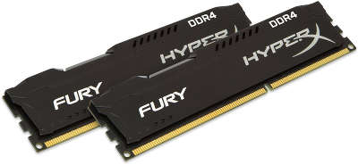 Набор памяти DDR4 2*8192Mb DDR2400 Kingston HyperX Fury Black [HX424C15FBK2/<wbr>16]