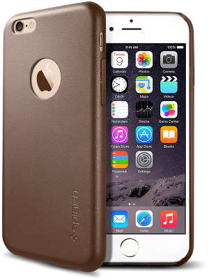 Чехол Spigen SGP Leather Fit для iPhone 6/6S, Olive Brown [SGP11356]