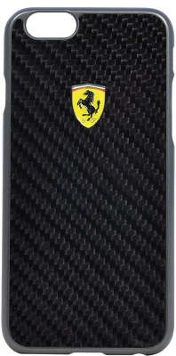 Чехол для iPhone 6/<wbr>6S Ferrari Formula One Hard Real Carbon, чёрный [FESCCBHCP6BL]