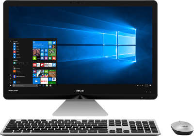 "Моноблок Asus ZN270IEGK-RA015T 27"" Full HD i5-7400T/4/1000/GF940MX 2G/WF/BT/W10/Kb+Mouse, серый"