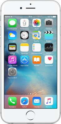Смартфон Apple iPhone 6S [MN0X2RU/A] 32 GB silver