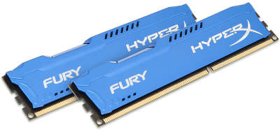 Набор памяти DDR-III DIMM 2*4096Mb DDR1600 Kingston HyperX Fury Blue [HX316C10FK2/<wbr>8]