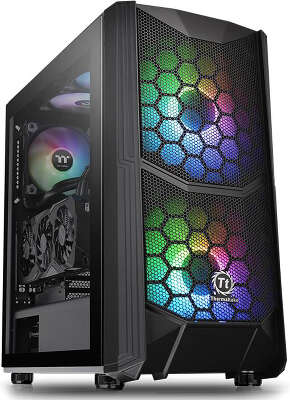 Корпус Thermaltake Commander C35 TG ARGB, черный, ATX, Без БП (CA-1N6-00M1WN-00)