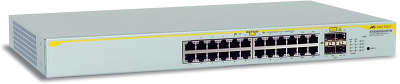 Коммутатор Allied Telesis (AT-8000GS/24POE) Layer 2 with 24-10/100/1000T ports +4 active SFP,POE