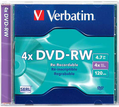DVD-RW диск Verbatim 4х 4.7 ГБ Jewel Box (1 шт.)