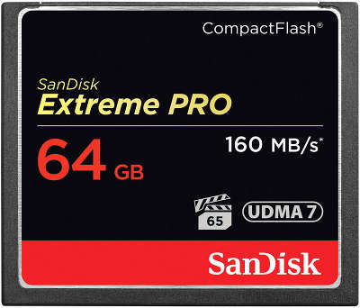 Карта памяти 64 Гб Compact Flash SanDisk Extreme Pro 160MB/s [SDCFXPS-064G-X46]