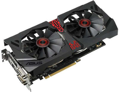 Видеокарта Asus PCI-E STRIX-R9380-DC2OC-4GD5-GAMING AMD Radeon R9 380 4096Mb 256bit GDDR5