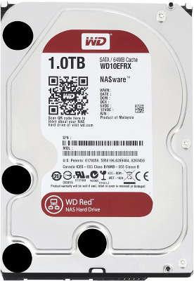 Жёсткий диск SATA-3 1TB [WD10EFRX] WD RED , IntelliPower, 64MB Cache