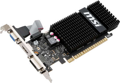 Видеокарта 2Gb PCI-E MSI N720-2GD3HLP с CUDA <GFN720, GDDR3, 64 bit, HDCP, VGA, DVI, HDMI, Retail>