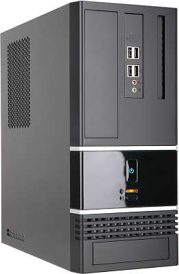 Корпус IN-WIN BK-623 Black Slim USB, 300W microATX 2.03