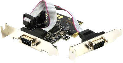 Контроллер Speed Dragon 2S PCI-Express I/O Card, 2xSerial RS232 Ports, Low Profile (FG-EMT03CL-1)