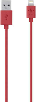 Кабель Belkin USB to Lightning Connector Cable, 1.2 м, красный [F8J023bt04-RED]