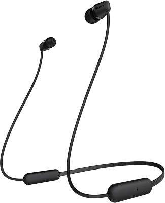 Беспроводные наушники Sony WI-C200, чёрные